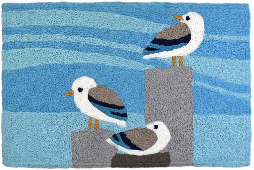 sunning seagulls