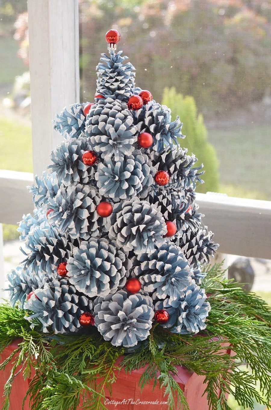 How To Make Pine Cone Christmas Trees Cottage At The Crossroads
