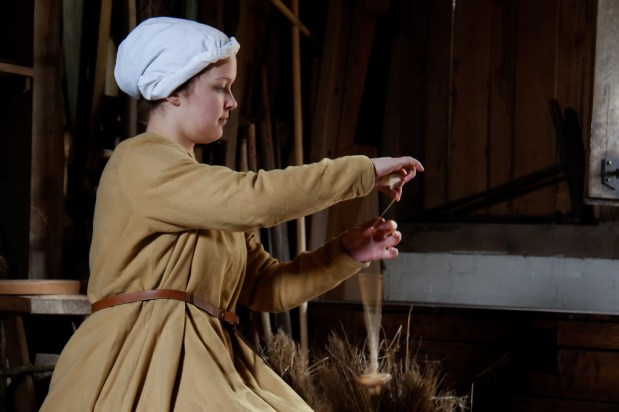 Photo credit: '15th century woman spinning' - hans s via Foter.com / CC BY-ND Original image URL: https://www.flickr.com/photos/archeon/4496474222/