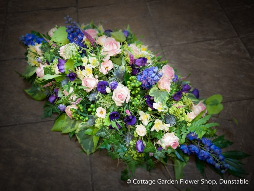 Pink & Blue Casket Spray