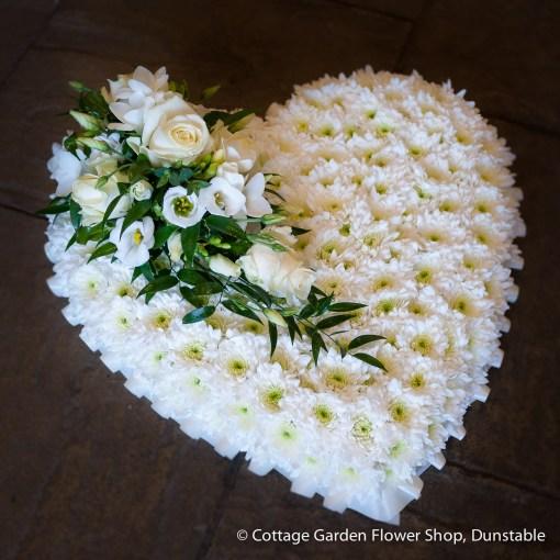 Large Based White Heart
