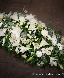 Mixed White Casket Spray