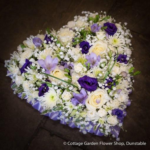 Petite Lilac, Purple & White Heart
