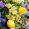 Yellow, Purple & Lilac Casket Spray