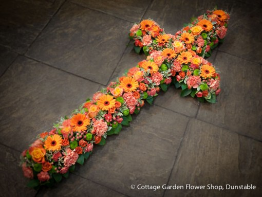 Cross In Oranges & Pinks