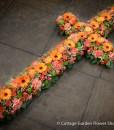 Cross In Oranges & Pinks
