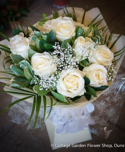 12 Rose Hand Tied