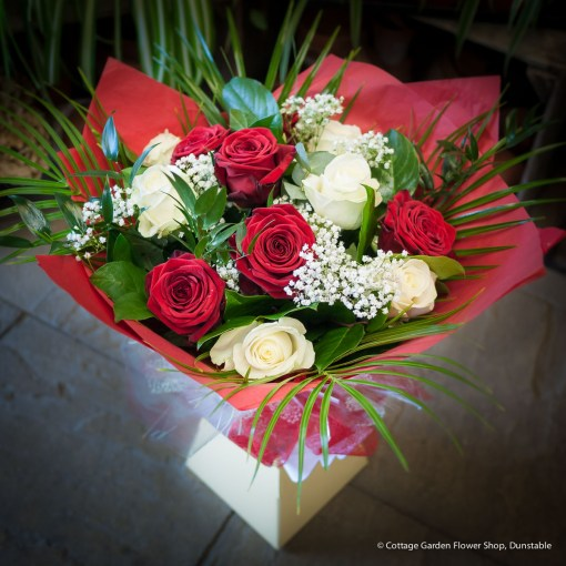 Mixed Rose Hand Tied