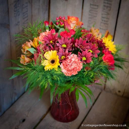 Autumn Red Vase