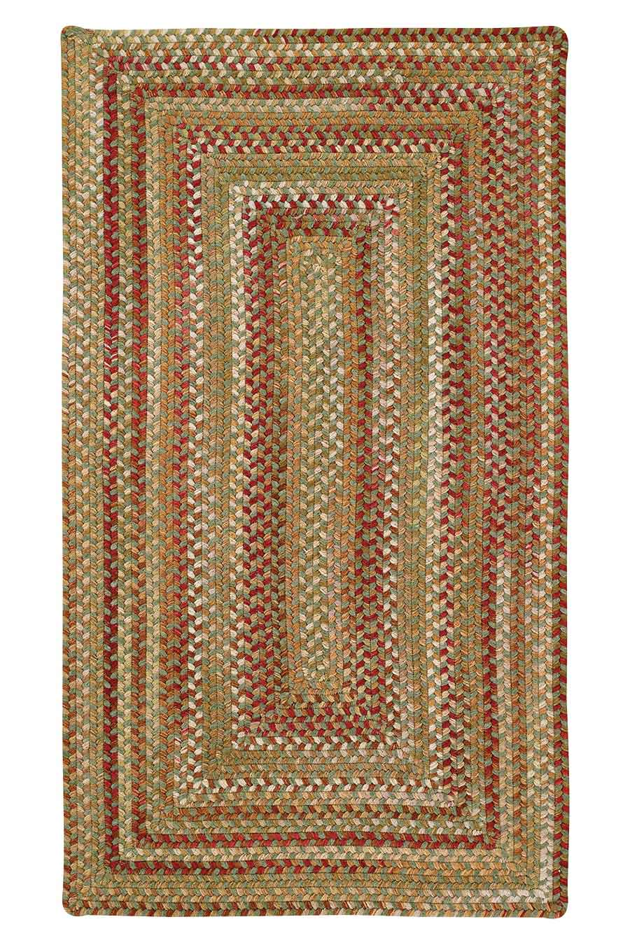 Sage Red Hues Manchester Braided Rug Cottage Home
