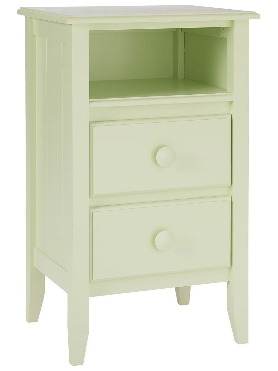 Two Drawer Open Shelf Cottage Nightstand