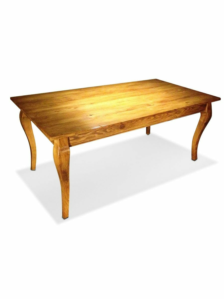 old pine cabriole leg table