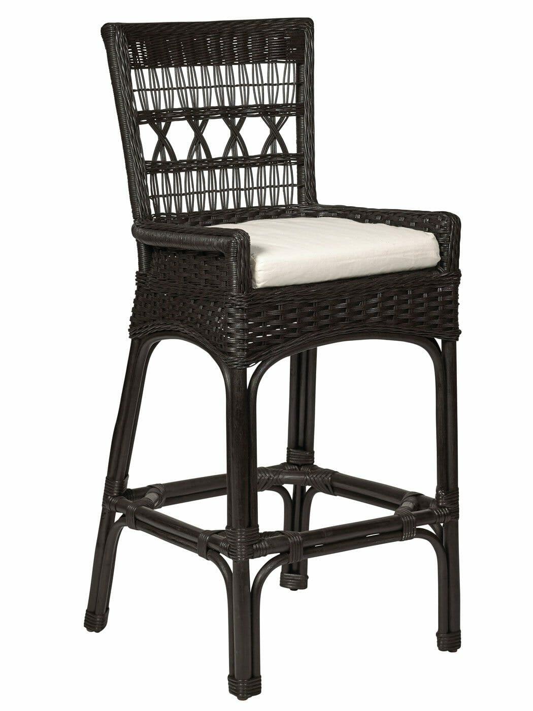 Nantucket Wicker Bar Stool Custom Furniture