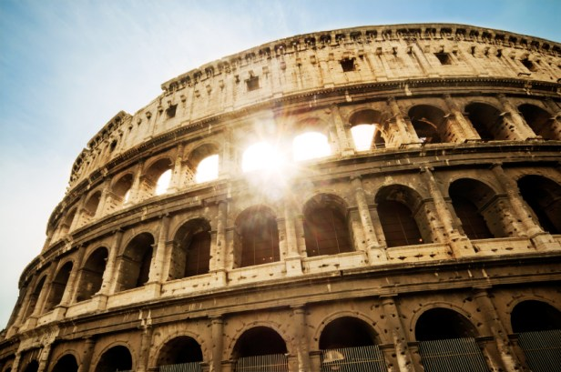 The Colosseum in Rome (we're sure you know this one!)
