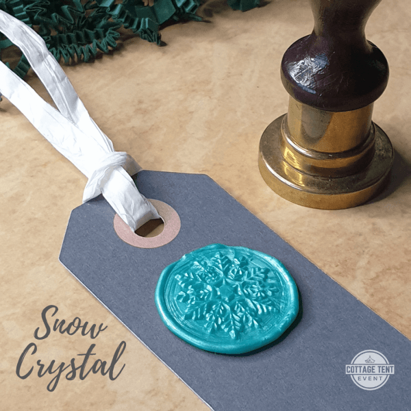 Wax Seal - snow crystal mint