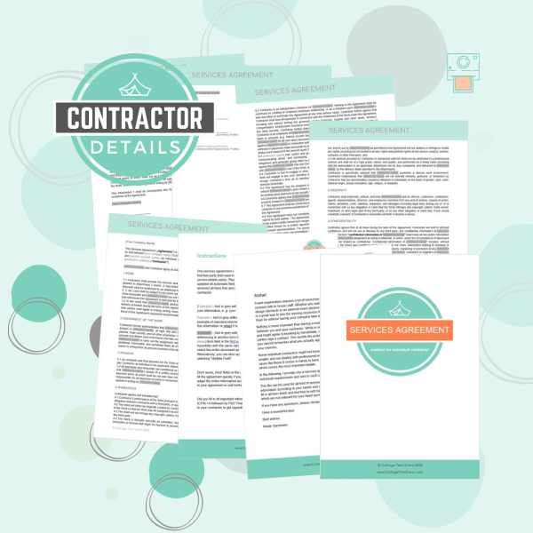 vent Contract Template Library - service agreement