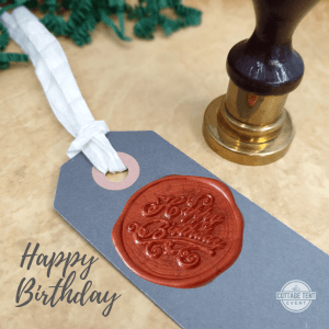Wax Seal - happy birthday tag