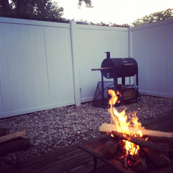 Okay, so we had a fire one night. So sue us. ;)
