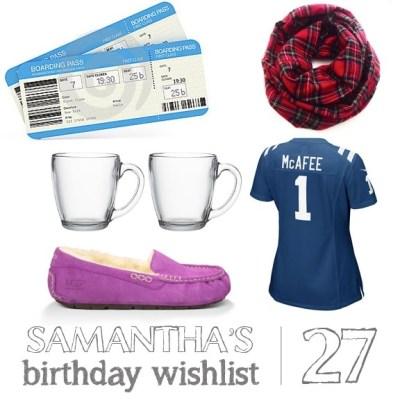 A Birthday Wishlist | oh hey, friday