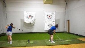 Golf Indoor Hitting Space
