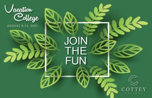 Graphic promoting Vacation College August 2021