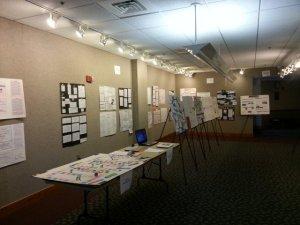 photo of academic showcase display
