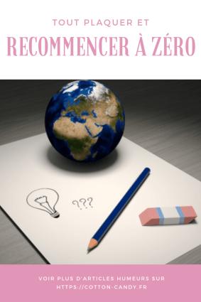 PINTEREST - recommencer à zéro