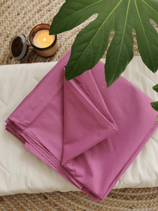cearceaf de pat bumbac lila