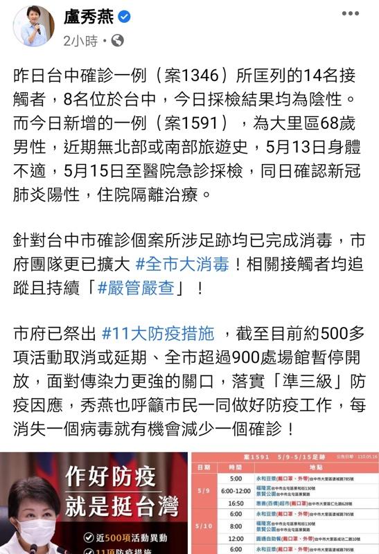20210516213341 34 - 台中市政府公布最新禁令!全餐飲業禁止現場飲食~