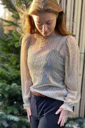 Lollys Laundry Barley blouse 21165_1025 silver (2)