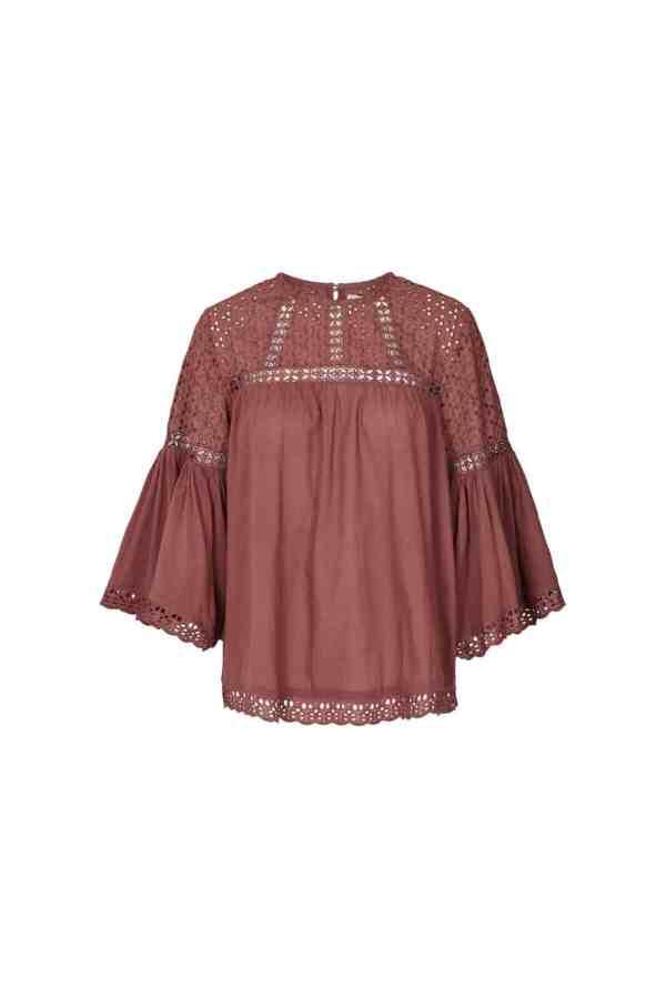 Lollys Laundry brandy blouse 20354_5087 dusty mauve (1)