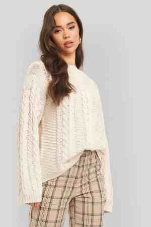 NA-KD cable knitted sweater 1018-004701 (1)