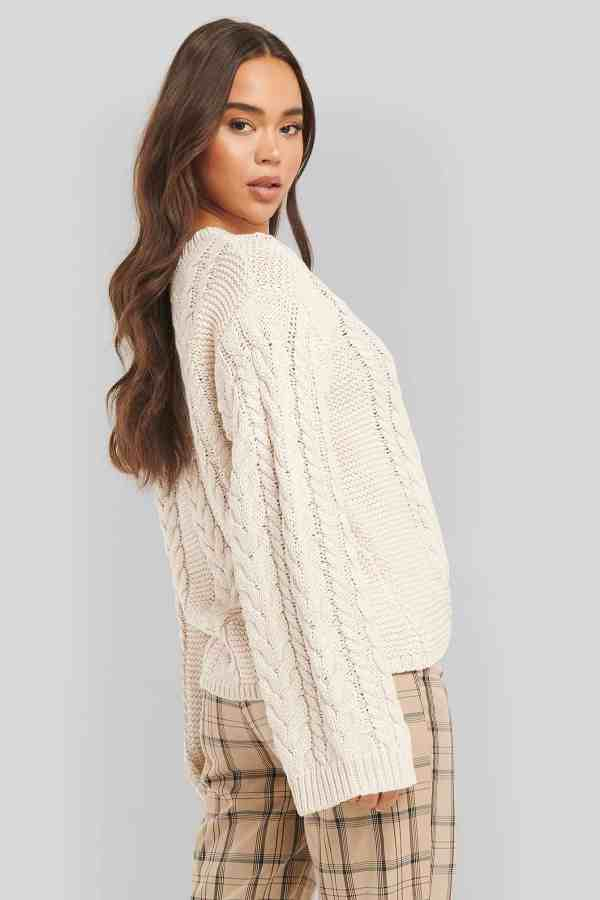 NA-KD cable knitted sweater 1018-004701 (2)