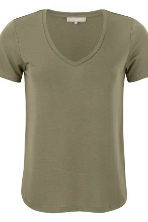 Soft Rebels - V-neck covert green