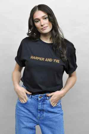 Harper & Yve - T-shirt night blue FW21H300 (1)