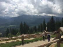 The view from the top of a mountain in Zakopane.