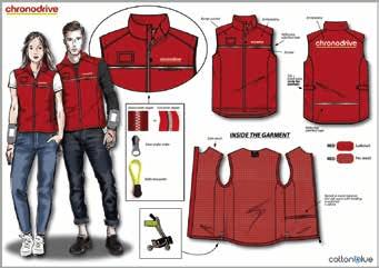 Croquis Vêtement de travail personnalisé  chronodrive