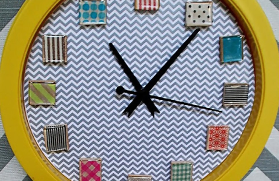 Washi Tape Wall Clock