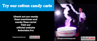 Try our cotton candy carts