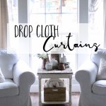 Inexpensive Farmhouse Hacks Drop Cloth Curtains Cotton Stem