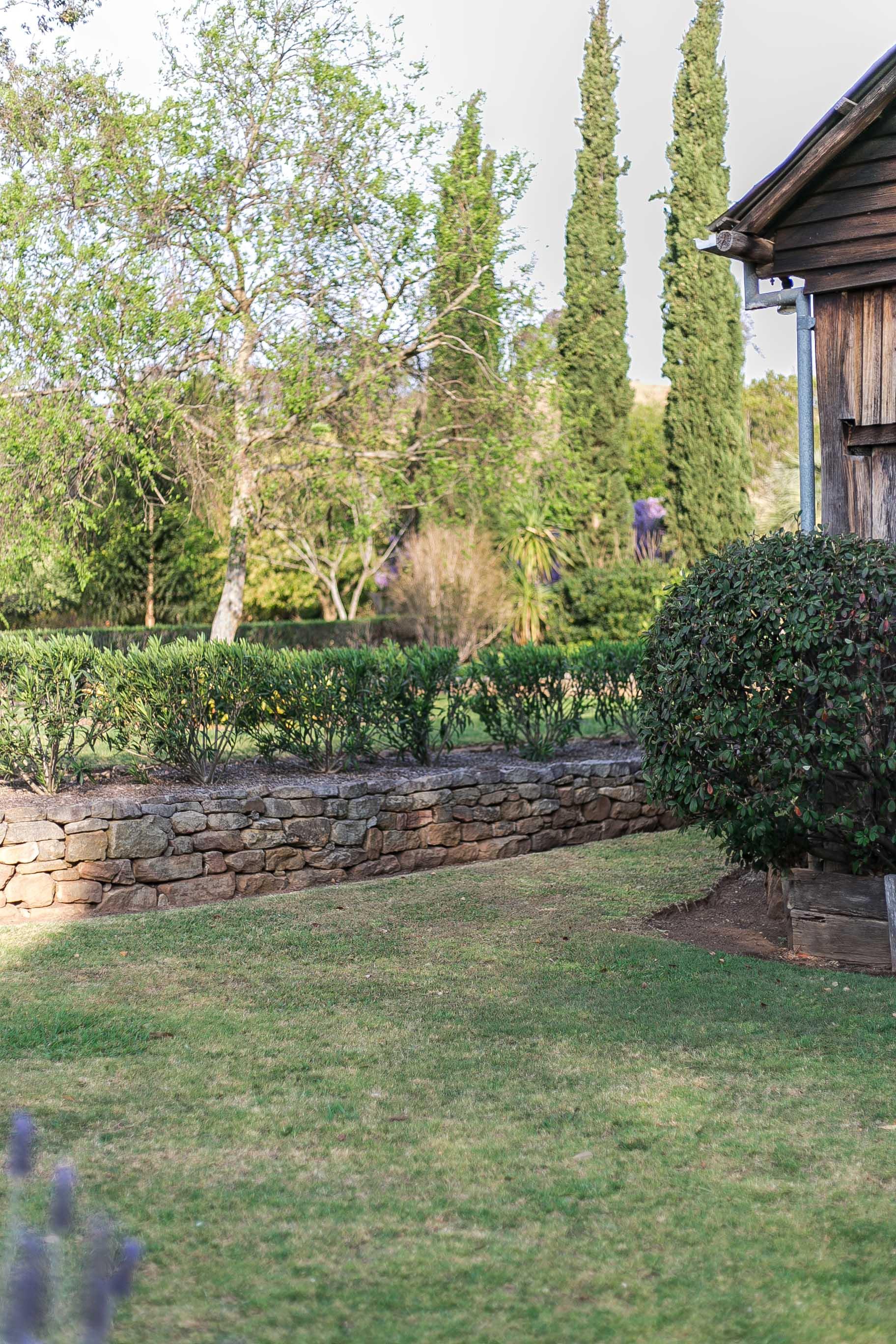 stone wall garden glenmore house camden