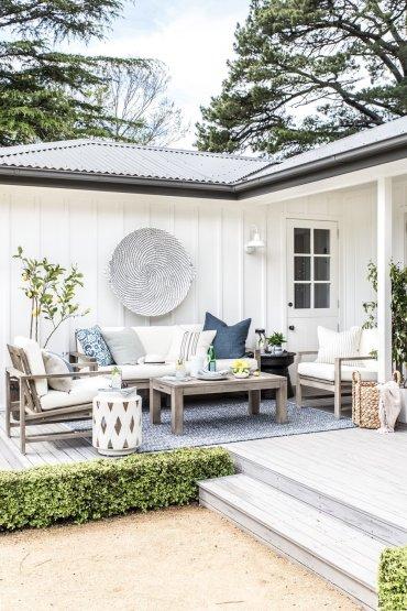 Cottonwood & Co x Pottery Barn. Modern farmhouse outdoor living