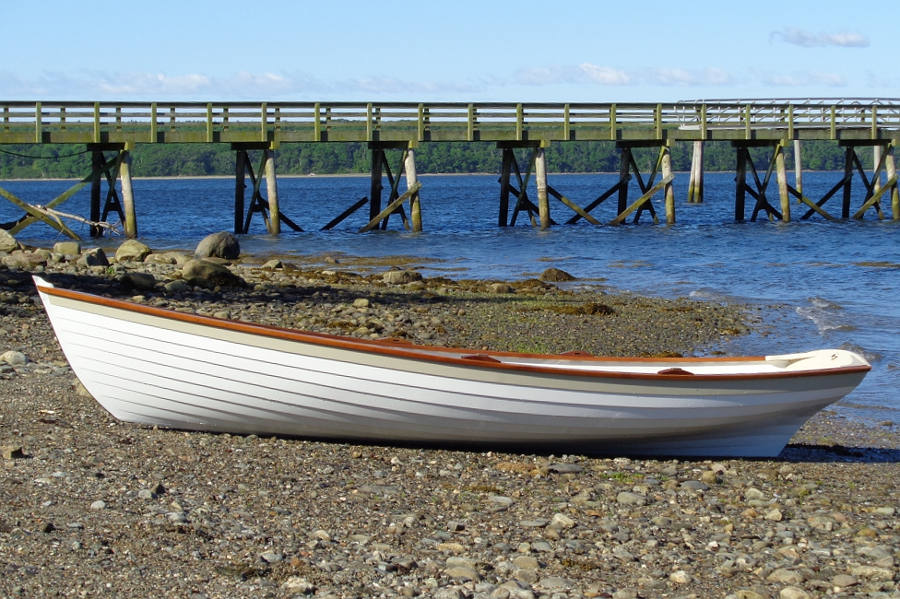 Penobscot Wherry on beach