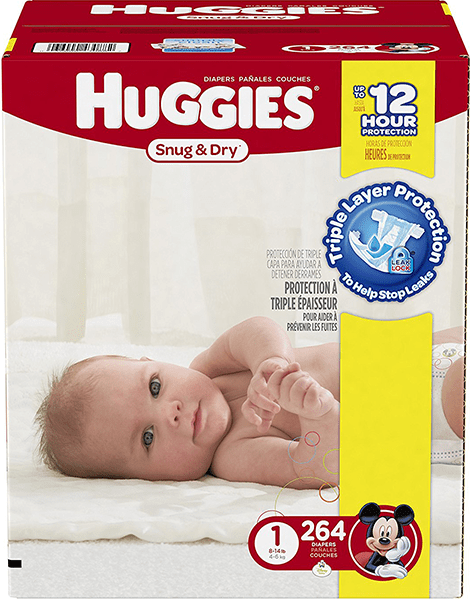 Couches-Huggies-Snug-and-Dry-Taille-1