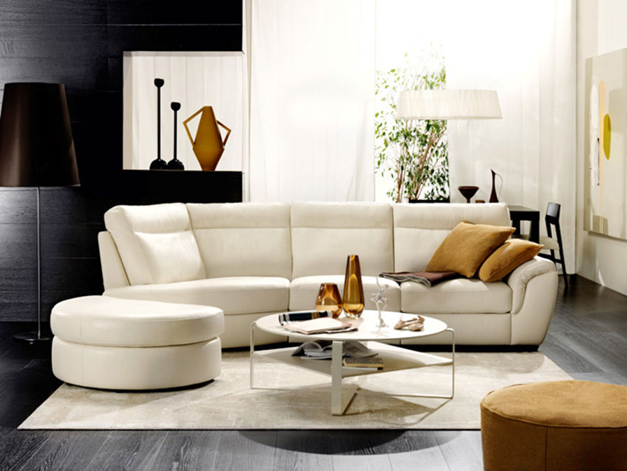 Small Leather Sectional Chaise