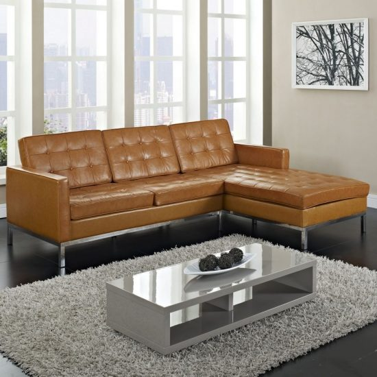 Light Gray Leather Sofa