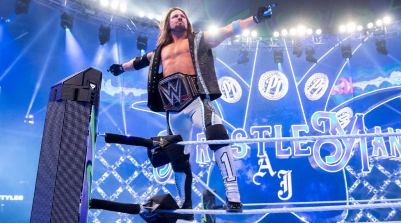 AJ Styles, AJ Styles has been WWE champion for one full year