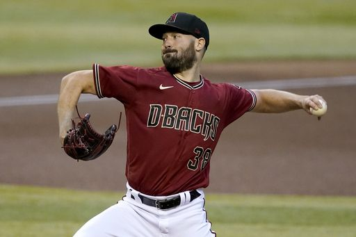 Picture of Robbie Ray Pitching for the Diamondbacks