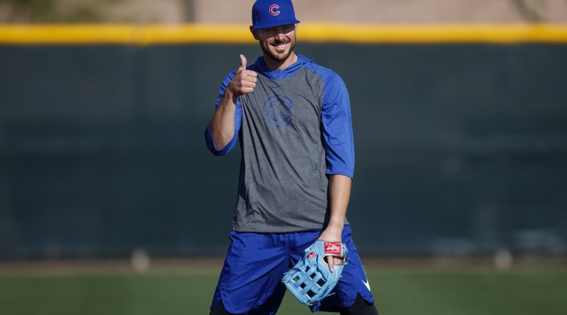 Kris Bryant giving a thumbs up