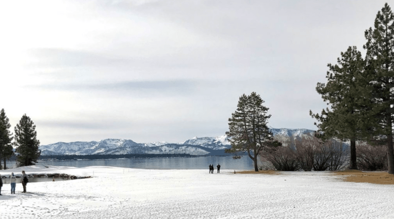 The approximate location at Lake Tahoe for the rink.